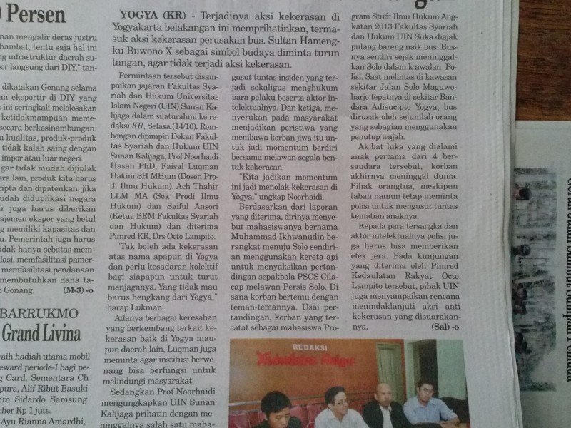 Emergency of Violence Yogyakarta