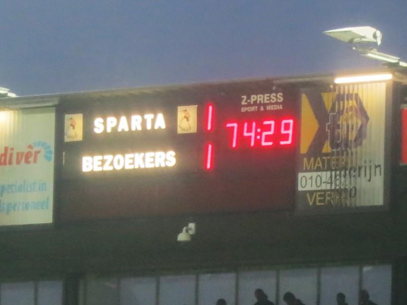 Sparta 6 Scoreboard