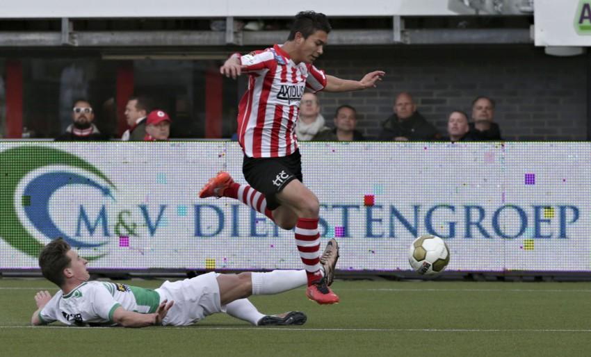 Rotterdam - voetbal - Sparta Rotterdam - FC Dordrecht - Kenneth Dougall - (2) Glenn Bijl - foto Carla Vos/Cor Vos © 2016