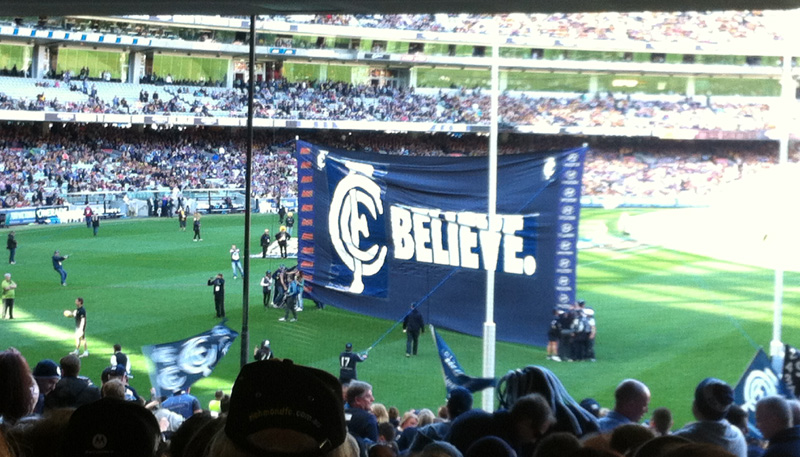Believe - Carlton Banner
